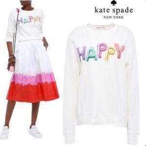 Kate Spade Broome Street Happy Balloons Crewneck